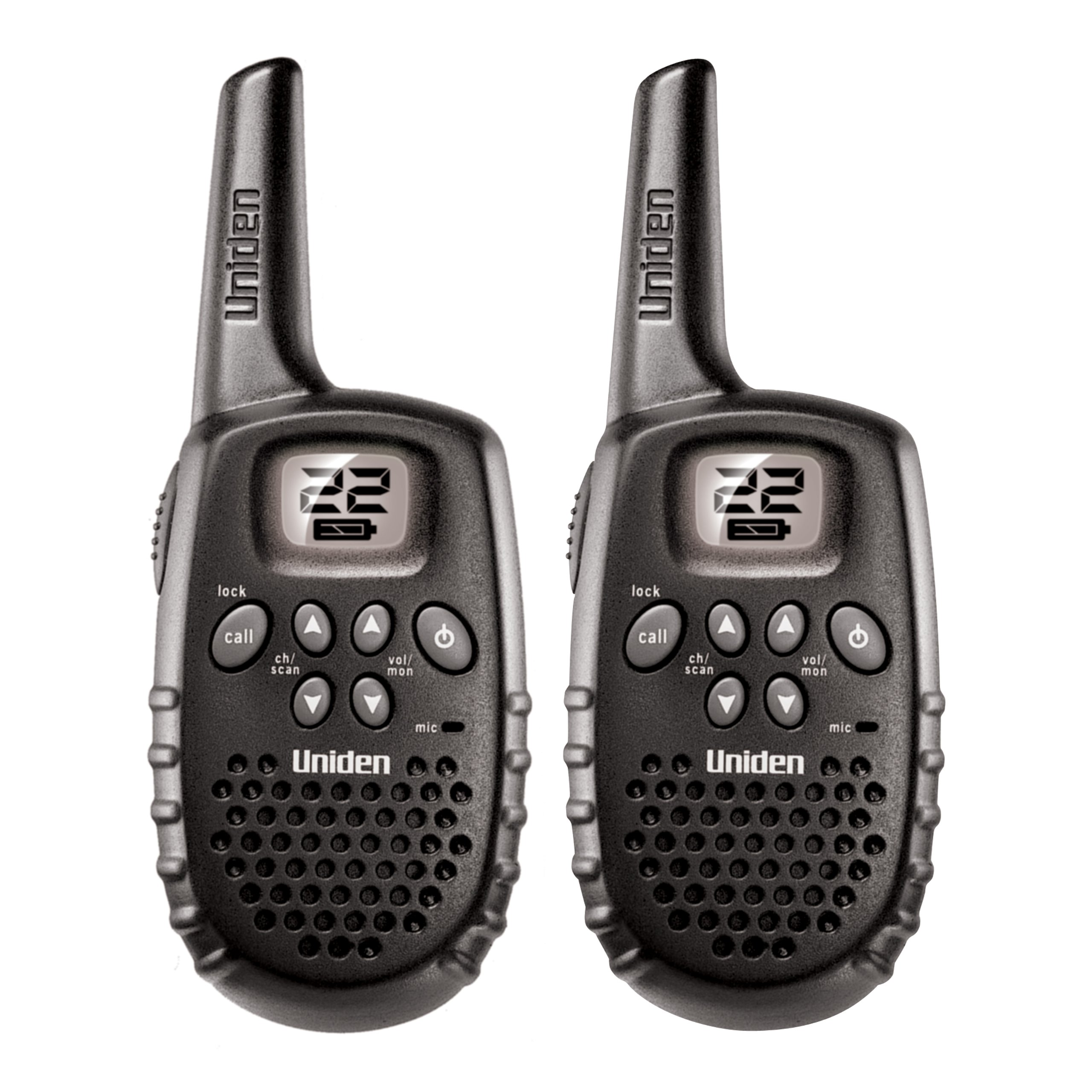 Uniden GMR1635-2 Up to 16-Mile Range, FRS Two-Way Radio Walkie Talkies, 22 Channels with Channel Scan, Battery Strength Meter, Roger Beep, (Discontinued by Manufacturer, Replaced by Uniden SX167-2C) by Uniden