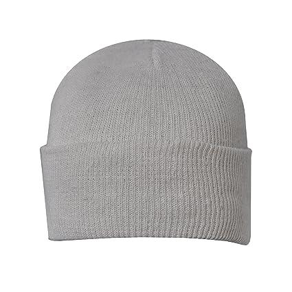 4690851fac2f5 Amazon.com  Beanie Plain White Winter Ski Woolly Hat  Garden   Outdoor