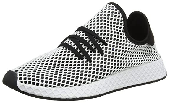 big sale 9cff7 6c00f adidas Menss Deerupt Runner Gymnastics Shoes White Amazon.co.uk Shoes   Bags