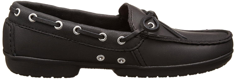 Crocs Women's Wrap ColorLite Loafer B00HFP6Z6Q 7 B(M) US|Black/Black