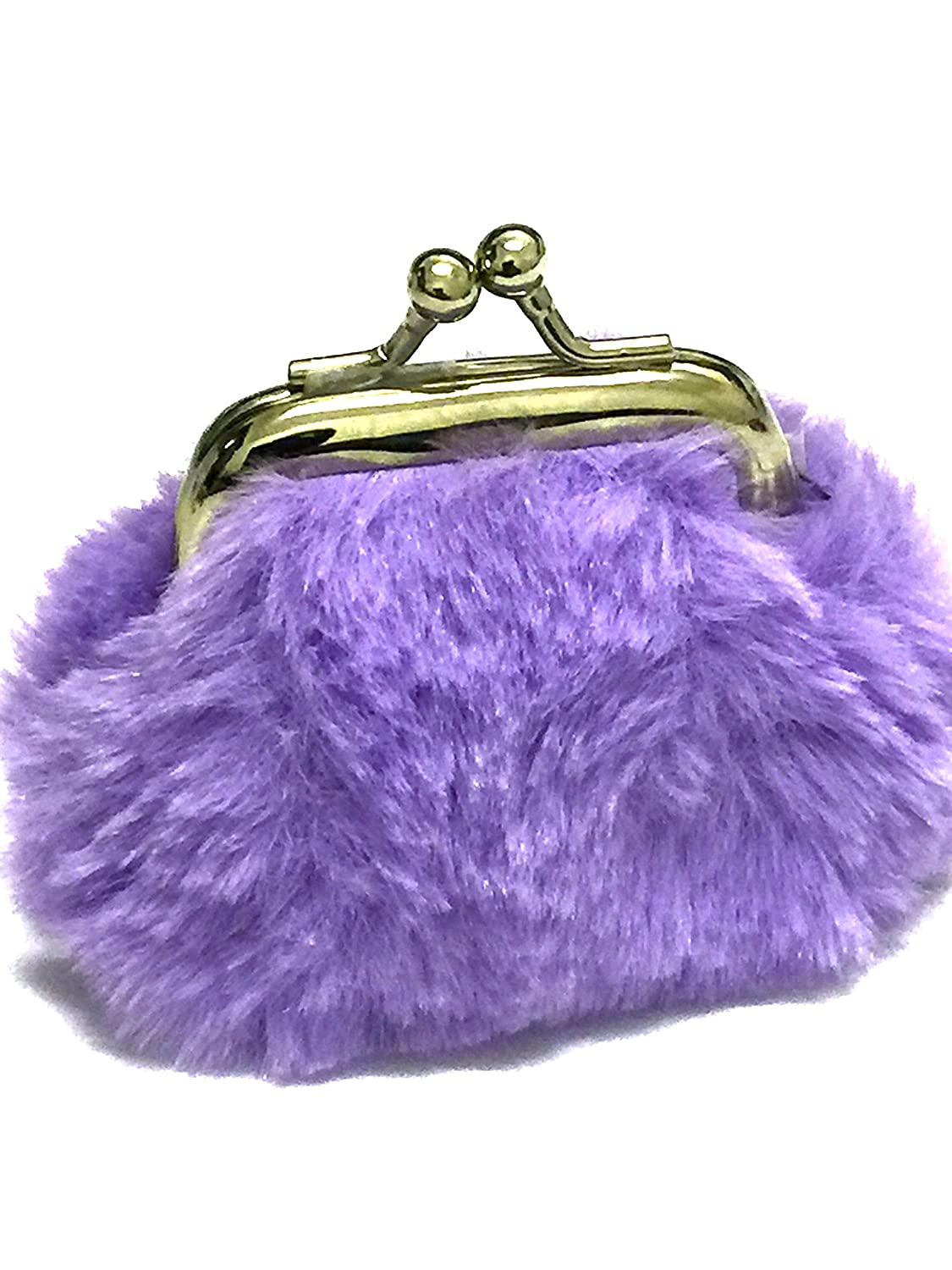 La Peach Fashions Gorgeous Children Fake Fur Coin Purse Lovely Colours Perfect Gift And Stocking Filler (Aqua)