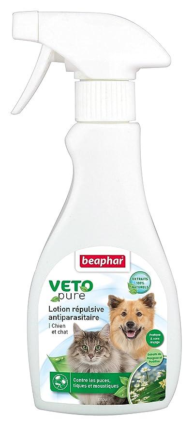 Beaphar nbsp;– VetoPure Loción repelente antiparásitos – perros y gatos – 250 ml