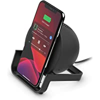 Belkin Wireless Charging Speaker (Wireless Charging Stand + Bluetooth Speaker) Charge While Taking Video Calls…