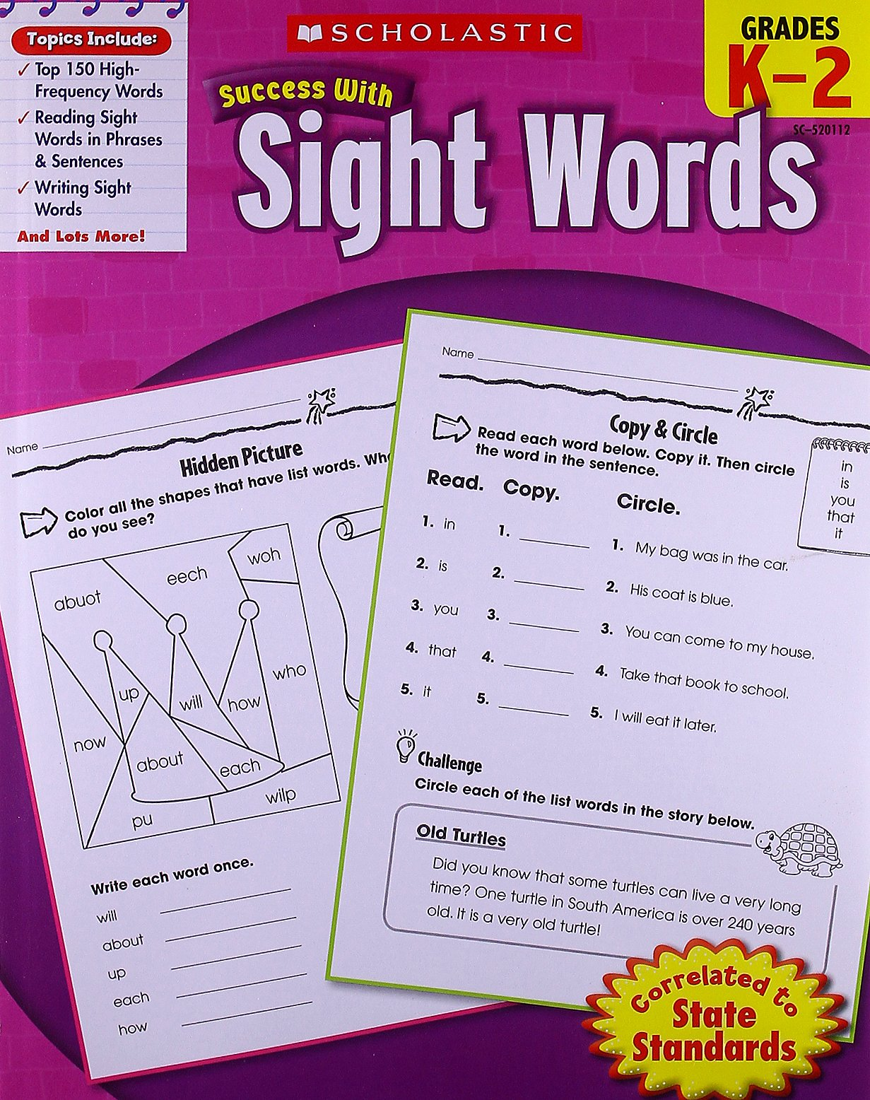 Scholastic Success with Sight Words Paperback – March 1, 2010