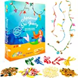 Mermaid Jewelry Making Kit for Kids - Make Your Own Beaded Pearl Mermaid Necklace Bracelet Girls Jewelry Kit - Make 15 Pieces