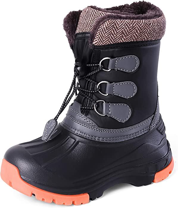 SkaDoo Boys Snow Goer Waterproof All Weather Snow Boots Black 4