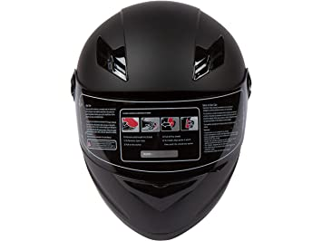 RISE mate negro motocicleta casco w/2 viseras (claro y humo) – ligero