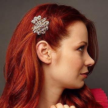 QueenMee Rose Gold Hair Clip Wedding Hair Clip Bridesmaid Hair Clip