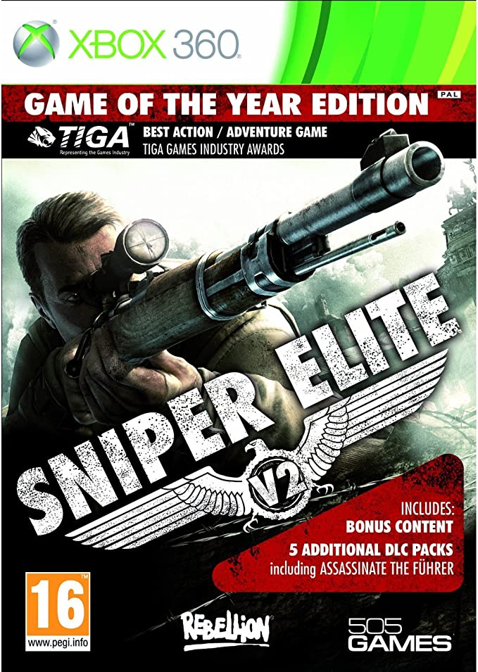 Halifax Sniper Elite Game of the Year, Xbox 360 - Juego (Xbox 360 ...