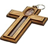 Wall Wood Cross from Bethlechem with a Certificate Handmade with Holy Soil By Dilord 6 Inches