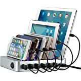Simicore 6-Port USB Charging Station Dock & Organizer for Smartphones, Tablets & Other Gadgets – Multiple USB Charger Station & Cell Phone Docking Station with Charging Status Indicator
