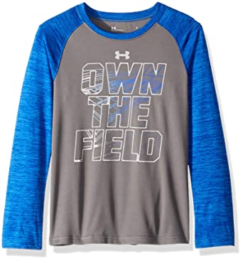 623f11fc Under Armour Toddler Boys' Long Sleeve Raglan Graphic Tee Shirt, Graphite On  The Field