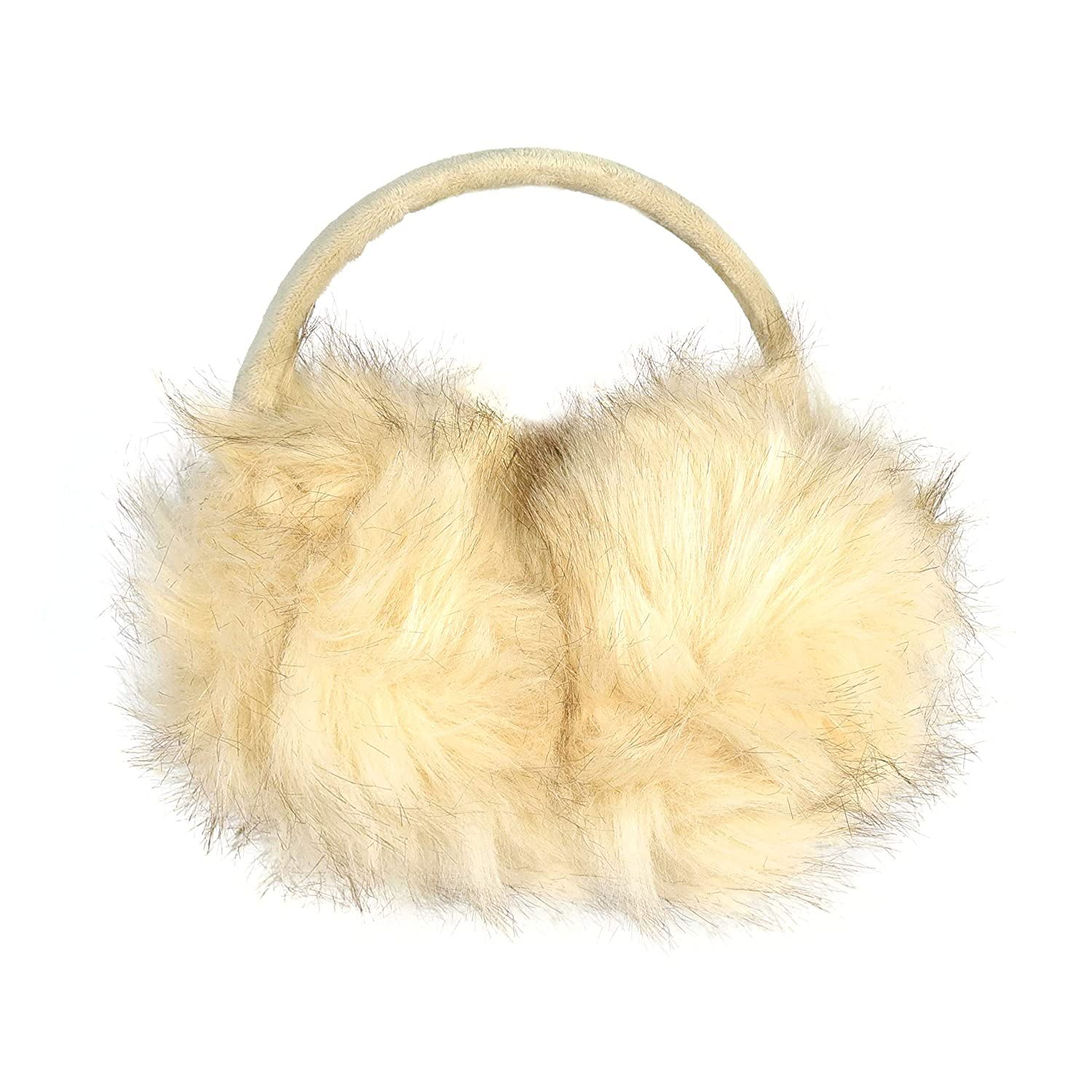 Luxurious Faux Fur Winter Chic Earmuffs- Large Oversized Soft Furry Ear Warmers