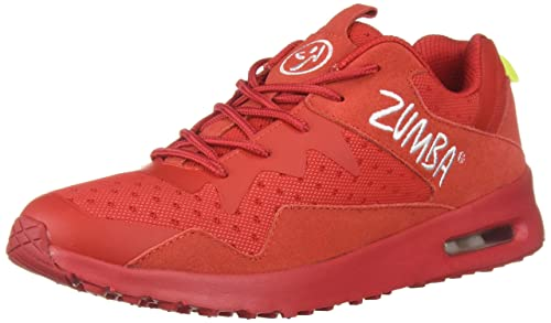 the latest d26ce 1d121 Zumba Athletic Women s Air Classic Fashion Dance Workout Shoes with Max  Impact Protection, Red,