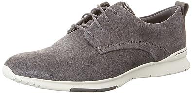 Franson Plain, Derby Homme, Gris (Grey Leather), 44.5 EUClarks