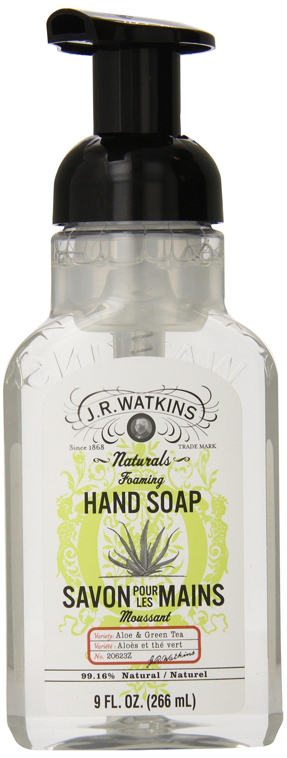 J.R. Watkins Foaming Hand Soap, Aloe & Green Tea, 9 ounce (Pack of 6) by J.R. Watkins (Image #1)