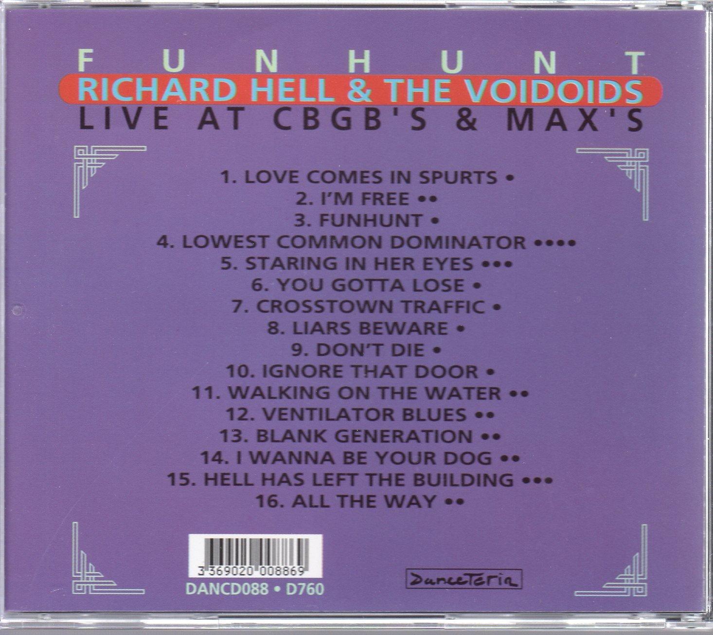 Funhunt: Live at  CBGB's & Max's by Danceteria (Image #2)