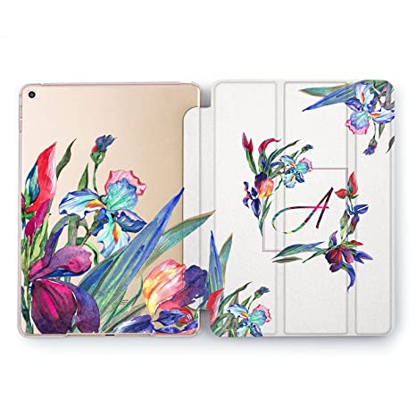 finest selection 87852 9788d Amazon.com: Wonder Wild Custom Design iPad 5th 6th Gen Iris Flowers ...