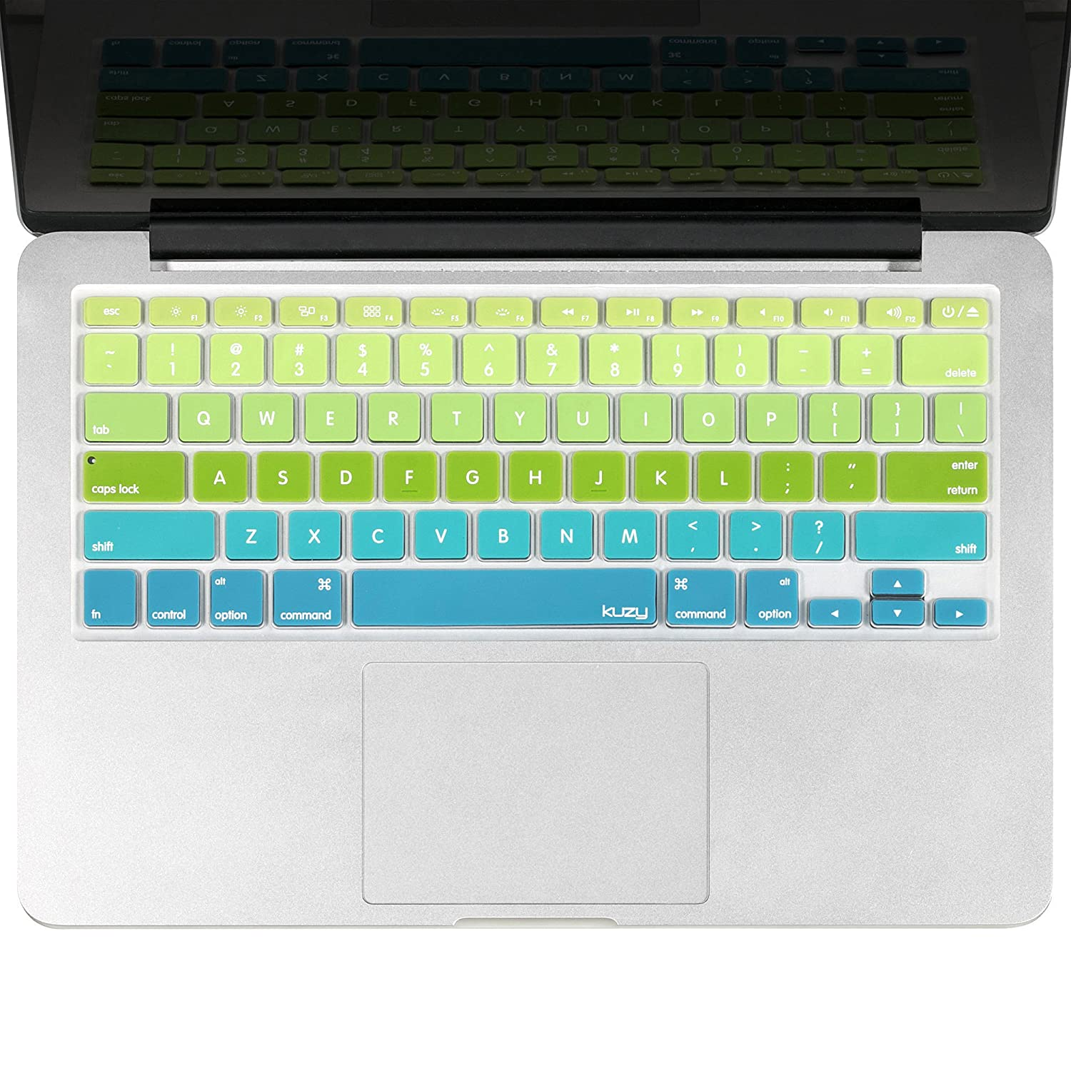 Kuzy Newest Rainbow Keyboard Cover Silicone Skin for MacBook Pro 13' 15' 17' (with or w/out Retina Display) iMac and MacBook Air 13' - Newest Rainbow NewRainbow.Key