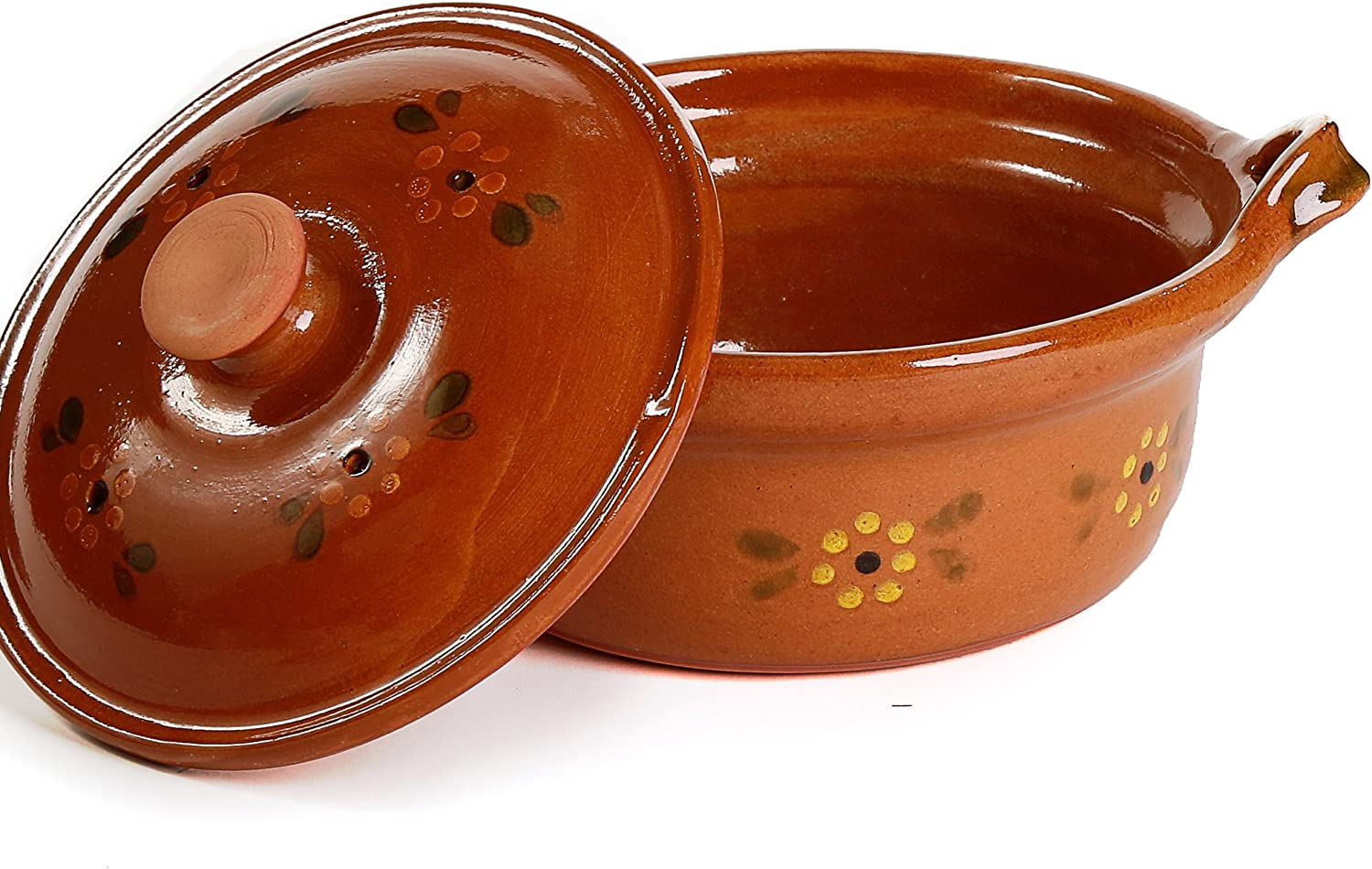 Ancient Cookware Mexican Clay Pot, Small, Terracotta