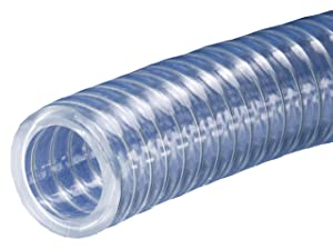 Kuriyama Kuri Tec K7130 Series Heavy Wall PVC Food and Beverage Vacuum/Transfer Hose, 150 psi, 100' Length x 3/4