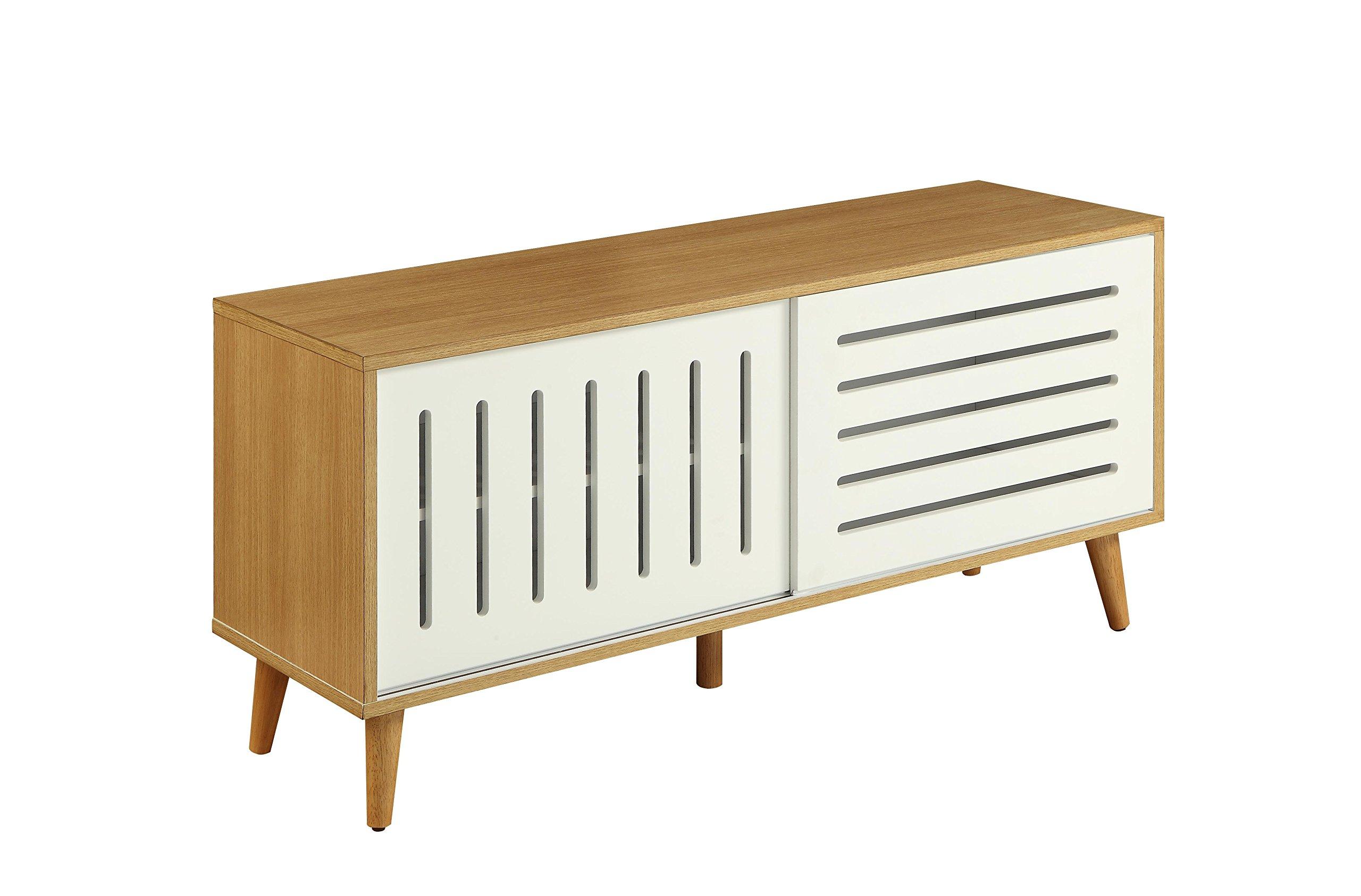 ACME Furniture 90167 Kollia Natural and White Console Table