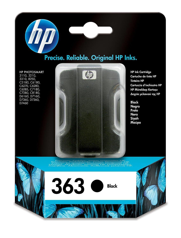 HP 363 - Cartucho de tinta para impresoras (Negro, Estándar ...