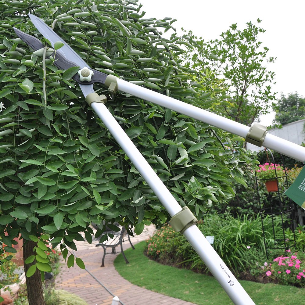 29'' to 42'' Telescopic Hedge Shear, Professional Garden Hand Shear,Extendable Clipper,Long Handle Fence Cutter