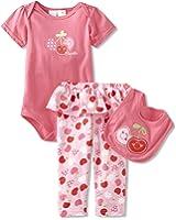 Baby Togs Baby-Girls Newborn Cherry 3 Piece Bib Set
