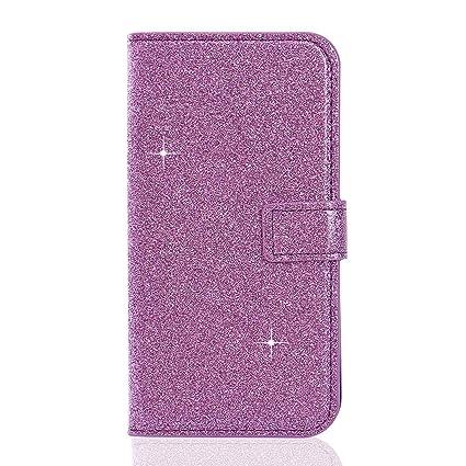 Moon mood® Huawei P10 Lite Funda de Piel, P10 Lite Carcasa Brillar, PU