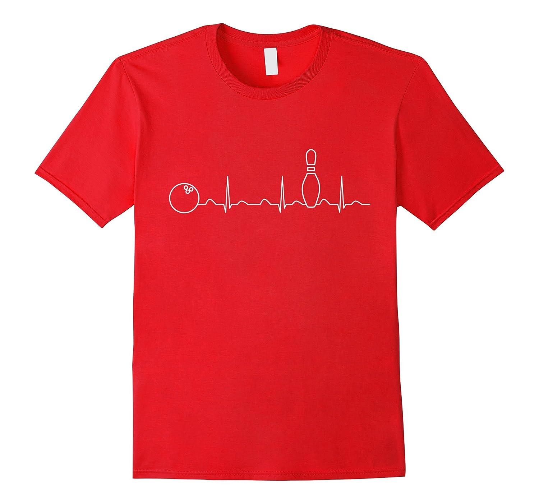 Bowling Heartbeat Shirt, Funny Cute Bowler Gift