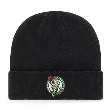 newest b9ded 68ca2 NBA Boston Celtics OTS Raised Cuff Knit Cap, Black, One Size, Skullies    Beanies - Amazon Canada