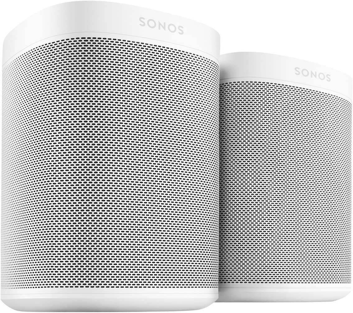 Two Room Set with all-new Sonos One - Smart Speaker with Alexa voice control built-In. Compact size with incredible sound for any room. (White)