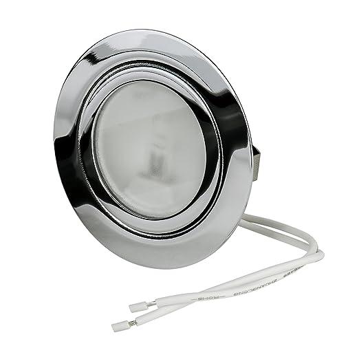 3W LED Möbel Einbauspots 12V LED Warmweiss Spiegelschrank Loch 55 bis 60mm