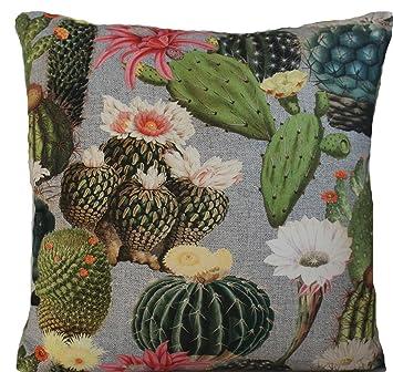Amazon.com: Cactus Verde Impreso Cojín decorativo Throw ...