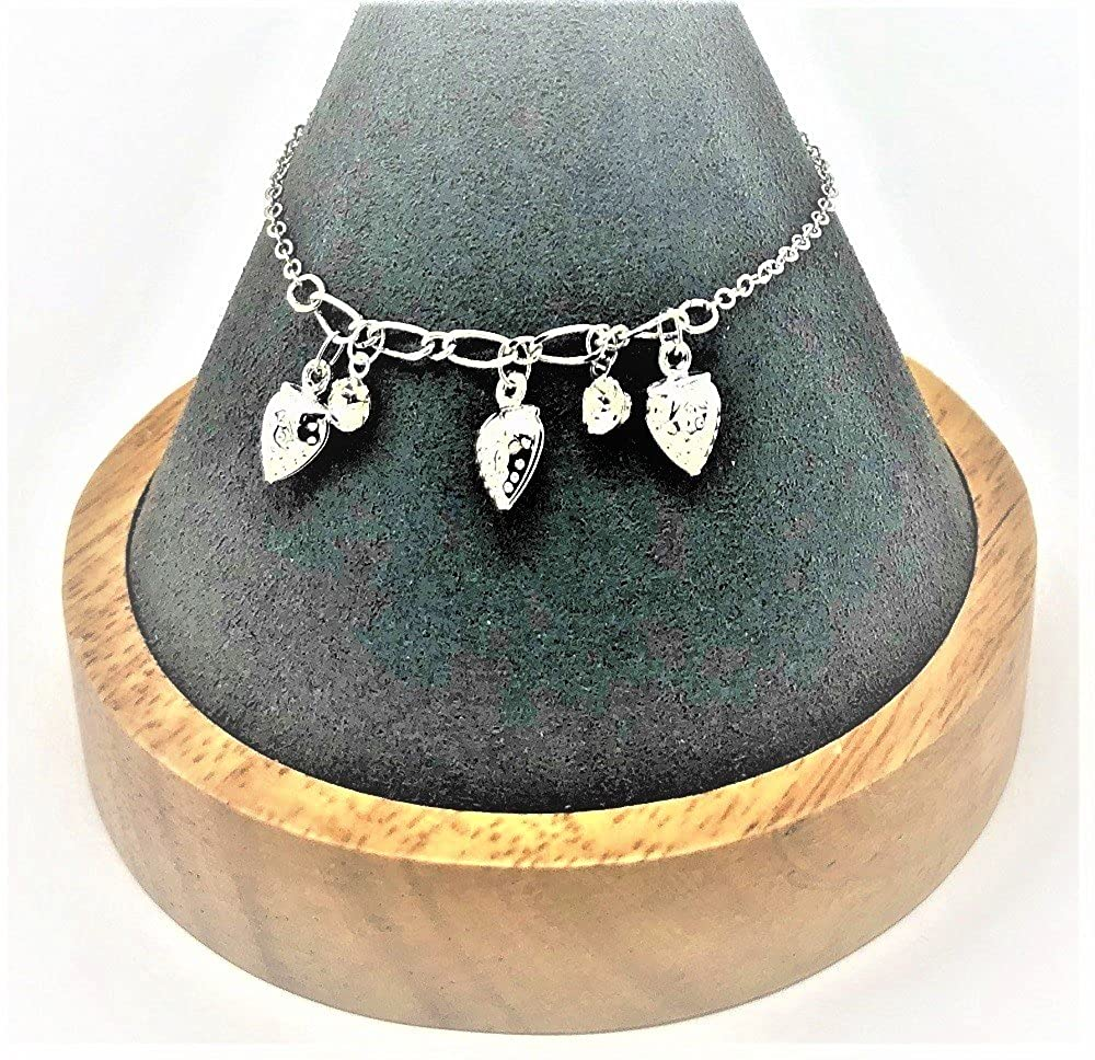 Shimjee Handmade 14K Gold Filled Bracelet,Strawberry Pendant with Cubic Zirconia