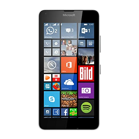 Microsoft Lumia 640 Dual-SIM LTE Smartphone (12,7 cm (5 Zoll) HD-IPS-Display, 1,2 GHz-Quad-Core-Prozessor, 8 Megapixel-Kamera