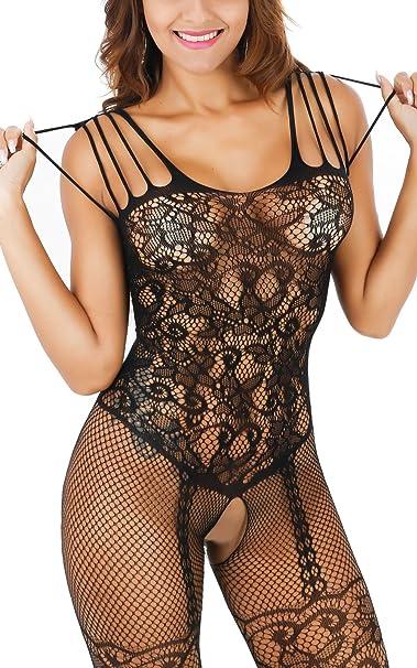 Amazon.com: freemale Mujeres Sexy Rejilla Abierta ...