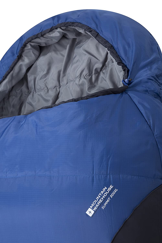 Mountain Warehouse Saco de Dormir Summit 300 L - Aislamiento térmico de Fibras Huecas, Saco de Acampada Tipo Momia, Bolsillo Interior - para Viajar y ...