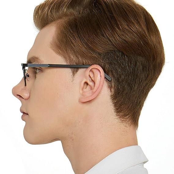 dd0d8d14bf1 OCCI CHIARI Mens Rectangle Full-Rim Metal Black Non-Prescription Clear  Optical Glasses 54mm W-CRIFO C4