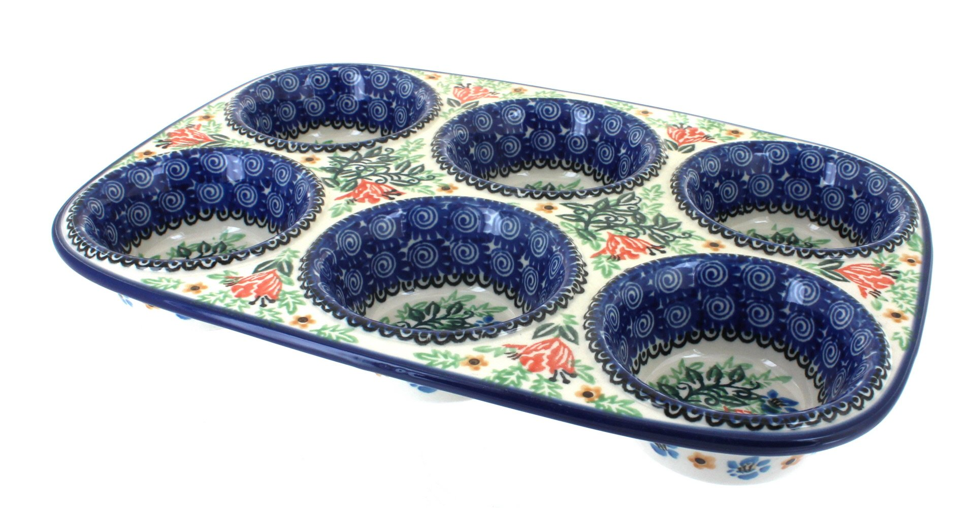 Polish Pottery Irena Muffin Pan