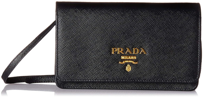 054779a39bf Prada Women s Saffiano Wallet 1bp007toonzvf0002, Black, One Size at Amazon  Women s Clothing store
