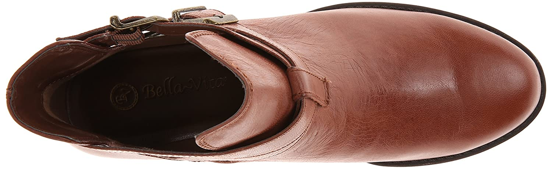 Bella Vita Damens's Raine Leder Boot Dark Tan Leder Raine 340c77
