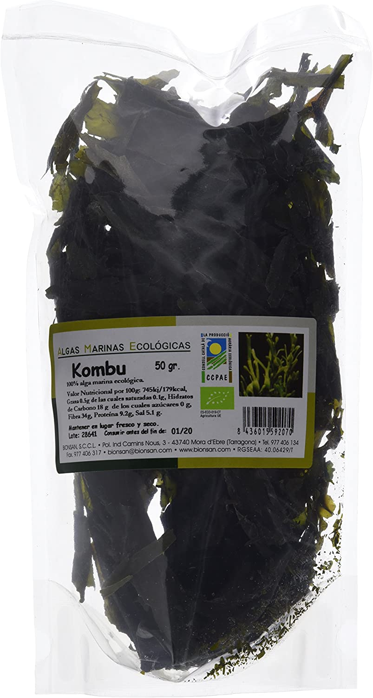 Bionsan Alga Kombu Ecológica - 3 Bolsas de 50 gr - Total: 150 gr