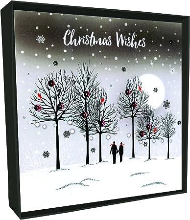 Tarjetas de Navidad de brillo en caja xlsb007 a lujo par Walking Tarjeta de Navidad (Pack de 6): Amazon.es: Oficina y papelería