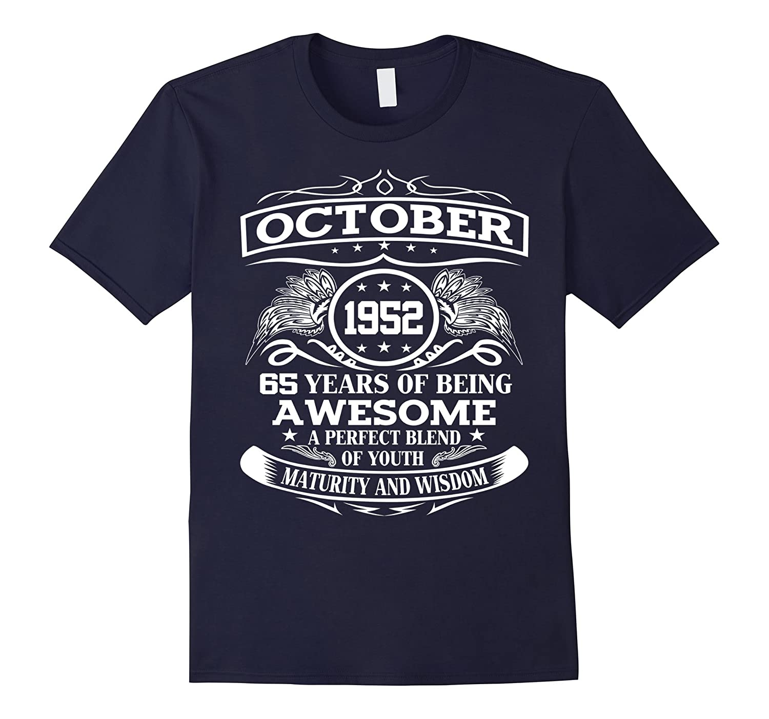 Vintage Limited October 1952 Edition - 65th Birthday Gift-T-Shirt