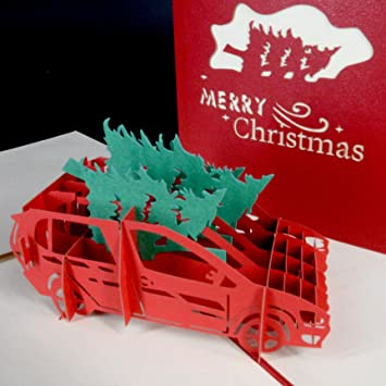 Model In Christmas Vacation.Christmas Vacation Griswald Station Wagon Pop Up Greeting Cards 5 Pack Lotta Sap In Here