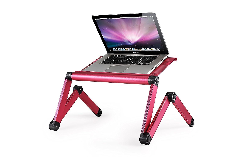Portátil ordenador portátil soporte de mesa Omax luz peso aluminio totalmente ajustable para ergonómico bandeja cama escritorio ajuste hasta 17 pulgadas ...