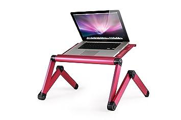 Portátil ordenador portátil soporte de mesa Omax luz peso aluminio totalmente ajustable para ergonómico bandeja cama