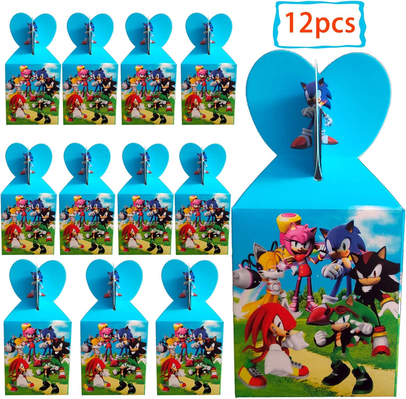 Amazon Com Dawei 12pcs Sonic The Hedgehog Birthday Party Boxes Sonic The Hedgehog Themed Party Supplies Children S Birthday Party Snack Boxes Kitchen Dining